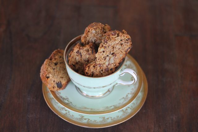Walnut and Fig Biscotti