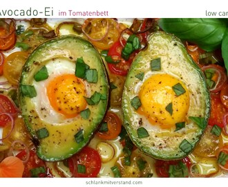 Avocado Ei im Tomatenbett low carb