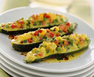 Courgettes farcies aux petits légumes Weight Watchers