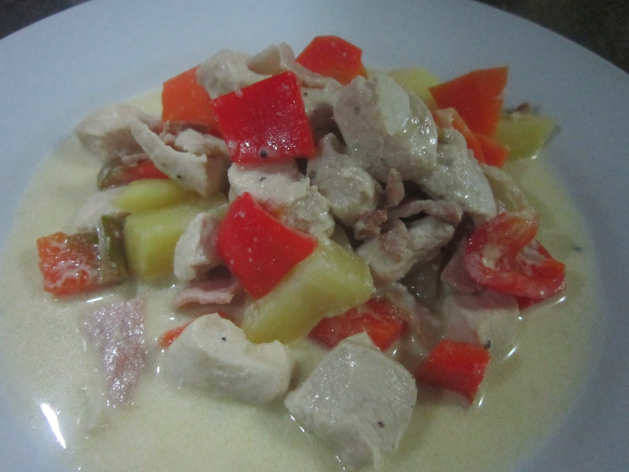 HAM and CHICKEN with CREAM