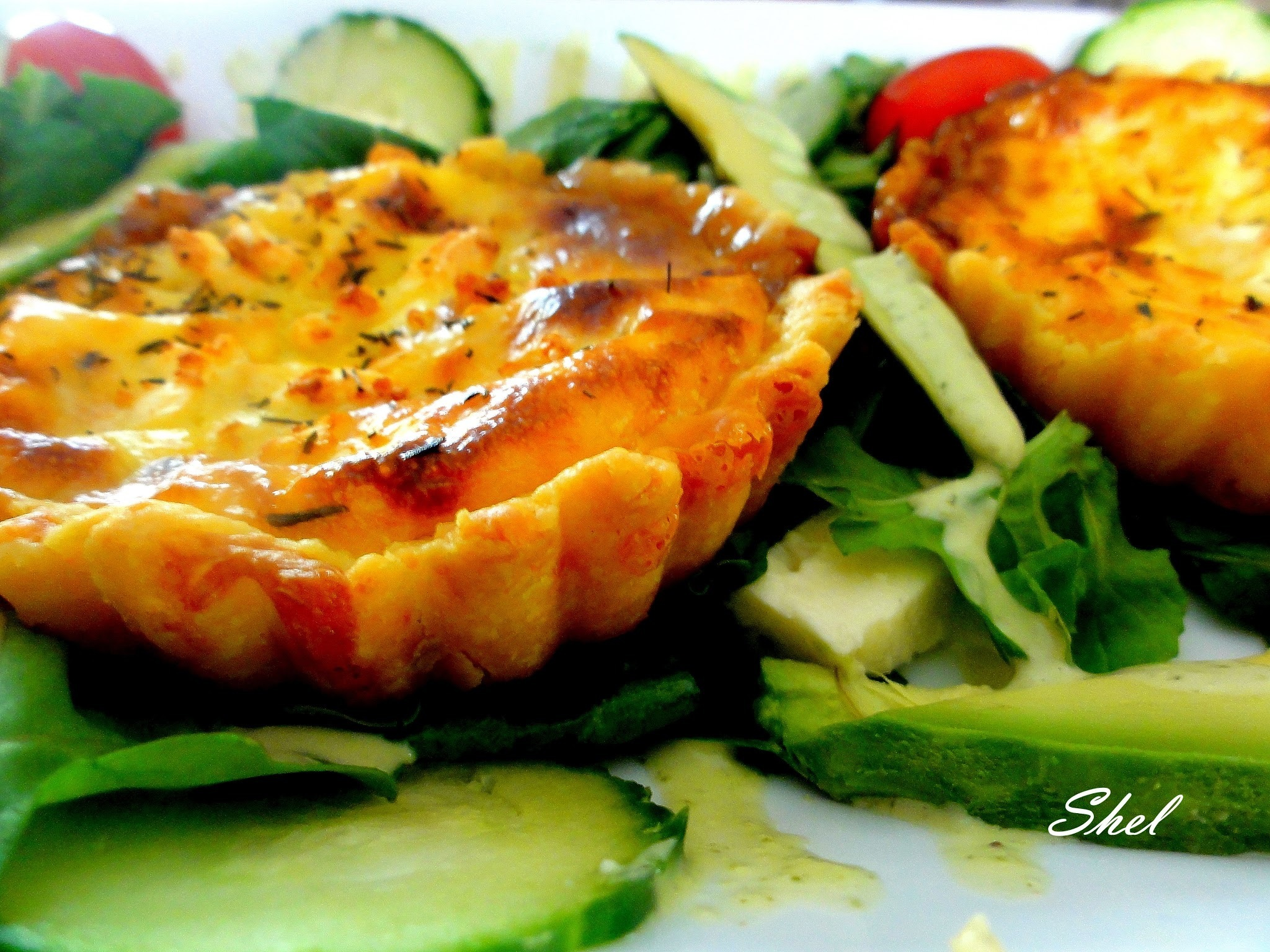 Caramelised onion marmalade and bacon quiche
