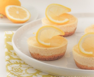 Mini cheesecake de limon