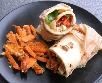 {Letscooktogether} Chicken Fajita Wrap