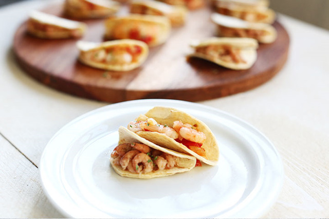 Mini party tacos garnalenhapjes