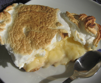 "Tarta de limón y merengue o ""Lemon Meringue Pie""."