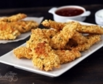Baked Cornflake Crusted Chicken Strips