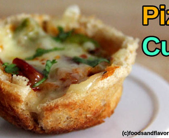 Pizza Cups – Kids Snacks Recipes – No oven Pizza Cup Snacks recipes