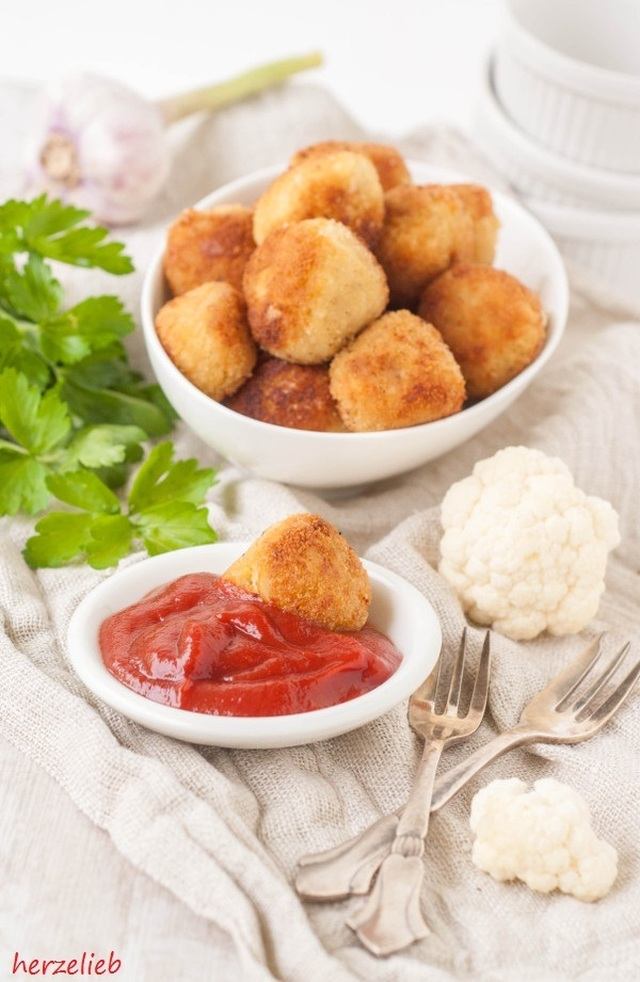 Blumenkohl-Nuggets – vegetarisches Fingerfood