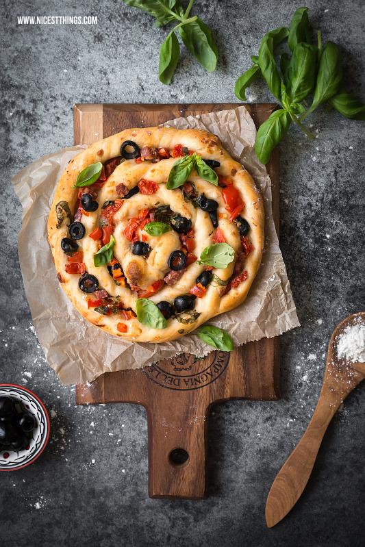 Pizza mal anders: Pizza Spirale oder Pizzaschnecke