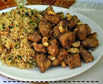 Spiced Chicken Nuggets and Eastern Rice