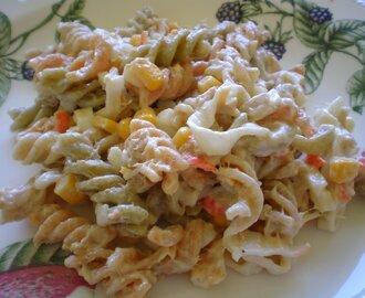 Recetas de ensalada de pasta de colores mytaste for Ensalada de pasta integral
