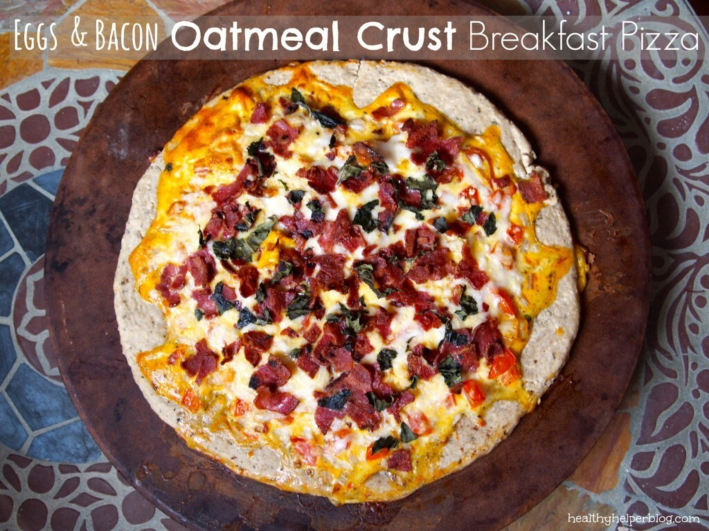Eggs & Bacon Oatmeal Breakfast Pizza