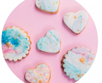 Kekse alla Picaso – Watercolor Cookies im Batik Look mit Zuckermoment