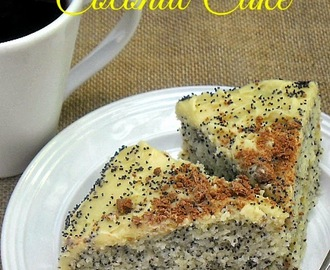 Poppy Seed and Coconut Cake
