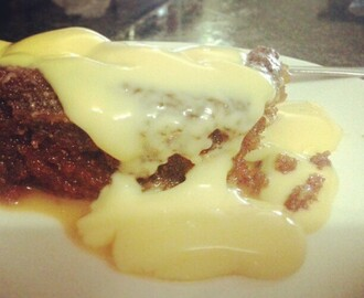 Traditional malva pudding