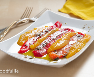 Traditional Recipe: Roasted Bell Peppers With Garlic Vinaigrette
