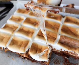 Kexchoklad brownie med marshmallows