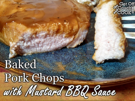 Baked Pork Chops with Mustard BBQ Sauce