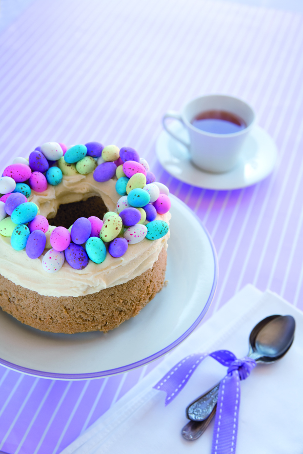 Hot Cross Bun Spiced cake with Easter eggs