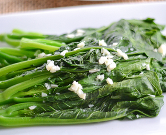 Chinese Broccoli (Gai Lan) with Minced Garlic