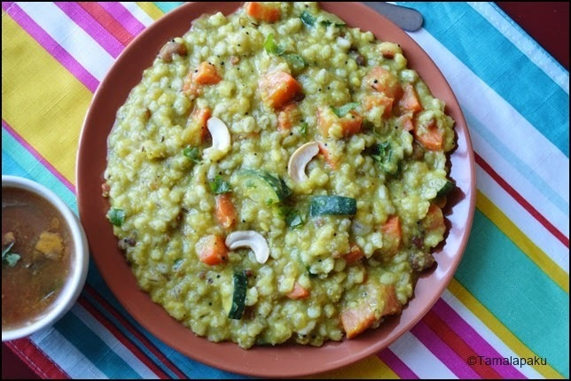 Barley Vegetable Khichdi In Instant Pot