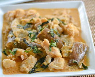 Fish and Eggplant Curry