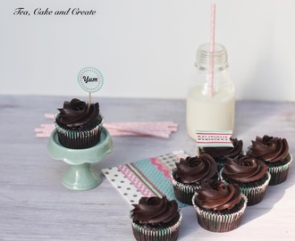 Dark Chocolate Cupcakes with Salted Caramel Centres