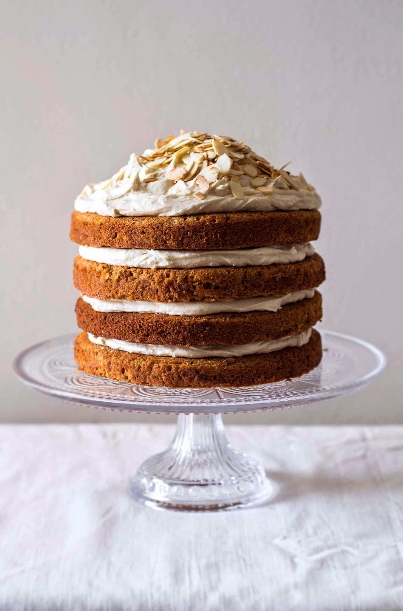 Spiced sweet potato cake with Muscovado frosting