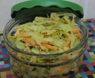 Spicy baby cabbage and carrot salad