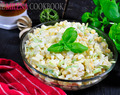 Salad With Leek, Eggs And Corn