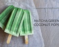 Matcha Green Tea Coconut Popsicles