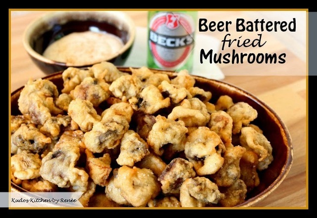 "Beer Battered Fried Mushrooms for #SundaySupper ""Man Food"""