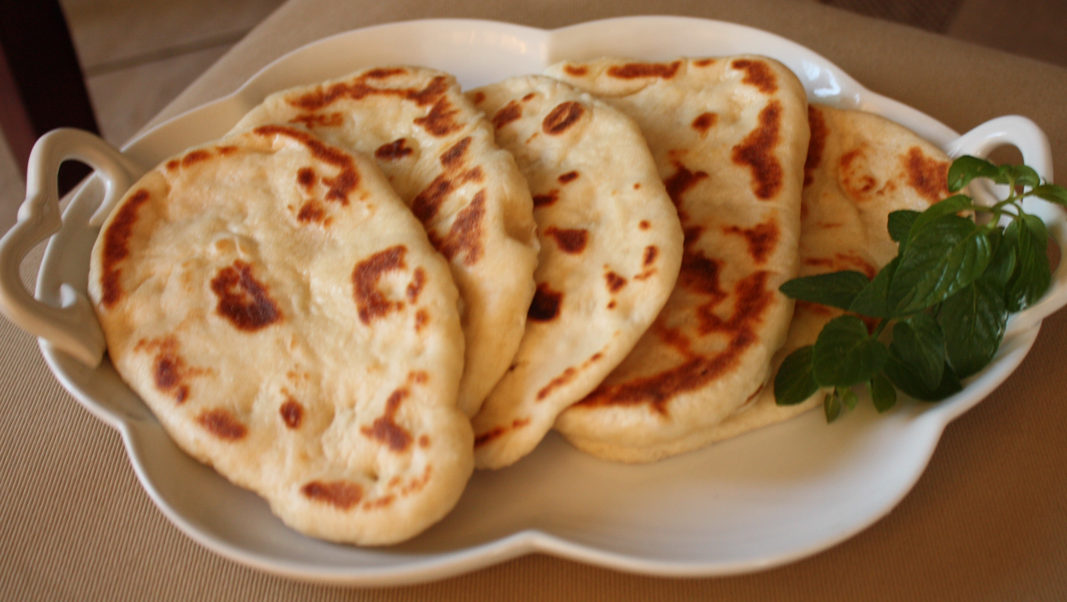 Indian Flatbread on the stove
