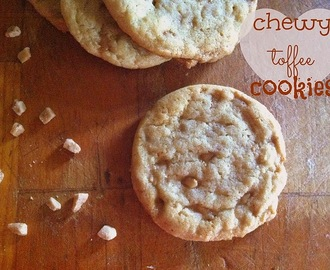 Chewy Toffee Cookies