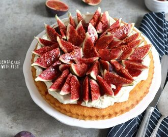 Polenta Cake with Mascarpone Cream and Fresh Figs
