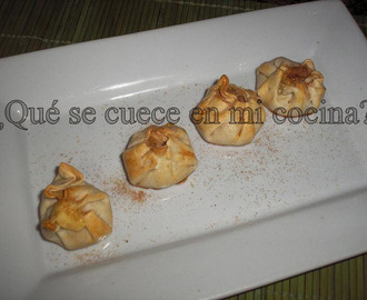 LIMOSNERAS DE MEMBRILLO , QUESO Y NUECES.