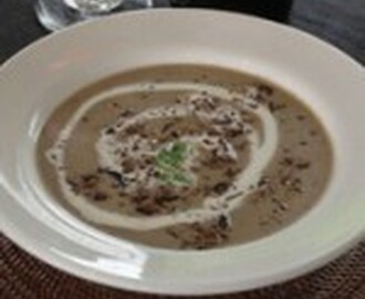 Biltong, Mushroom and Cheese Soup