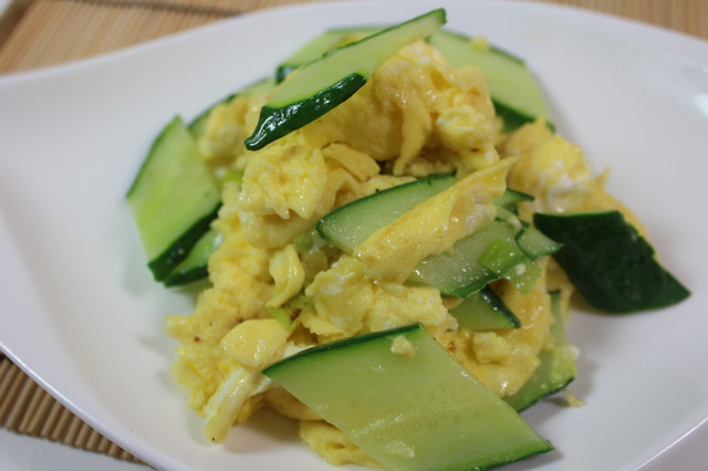 Egg Stir Fry with Cucumber