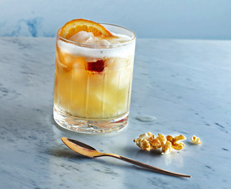 BBQ-popcorn med whiskey sour
