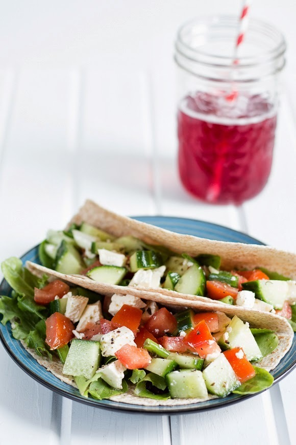 Greek Salad Tortillas Wraps Recipe - {and a GIVEAWAY}