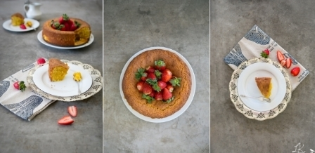 Lemon Almond Polenta Cake Recipe