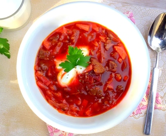 Bortsch /Borschtsch /Rote Bete Suppe low carb