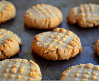 Gluten & sugar free Peanut butter and almond cookies
