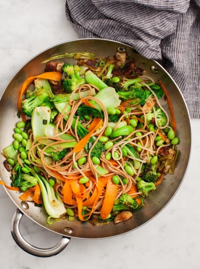 Sesame Broccoli and Shiitake Stir Fry