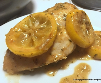 Petto di pollo arrosto al limone, morbido e saporito (roasted lemon chicken breast, juicy and tasty)