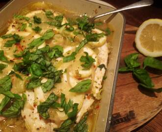 Baked Lemon & Basil Fish