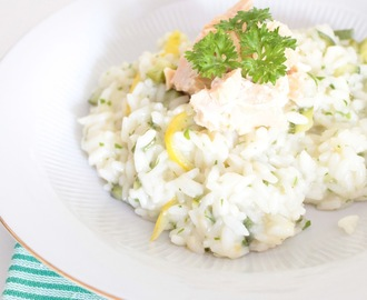 Risotto al limone e filetti di salmone