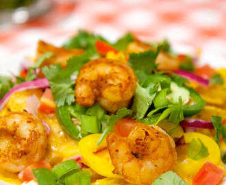 Baked Shrimp Nachos Recipe