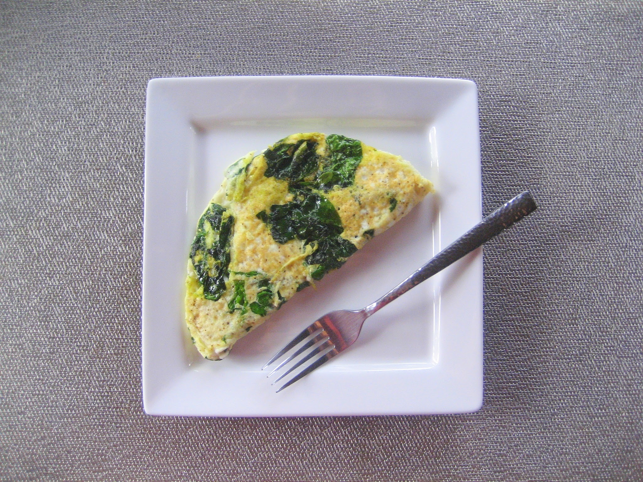 Breakfast Series: Egg White & Spinach Omelet