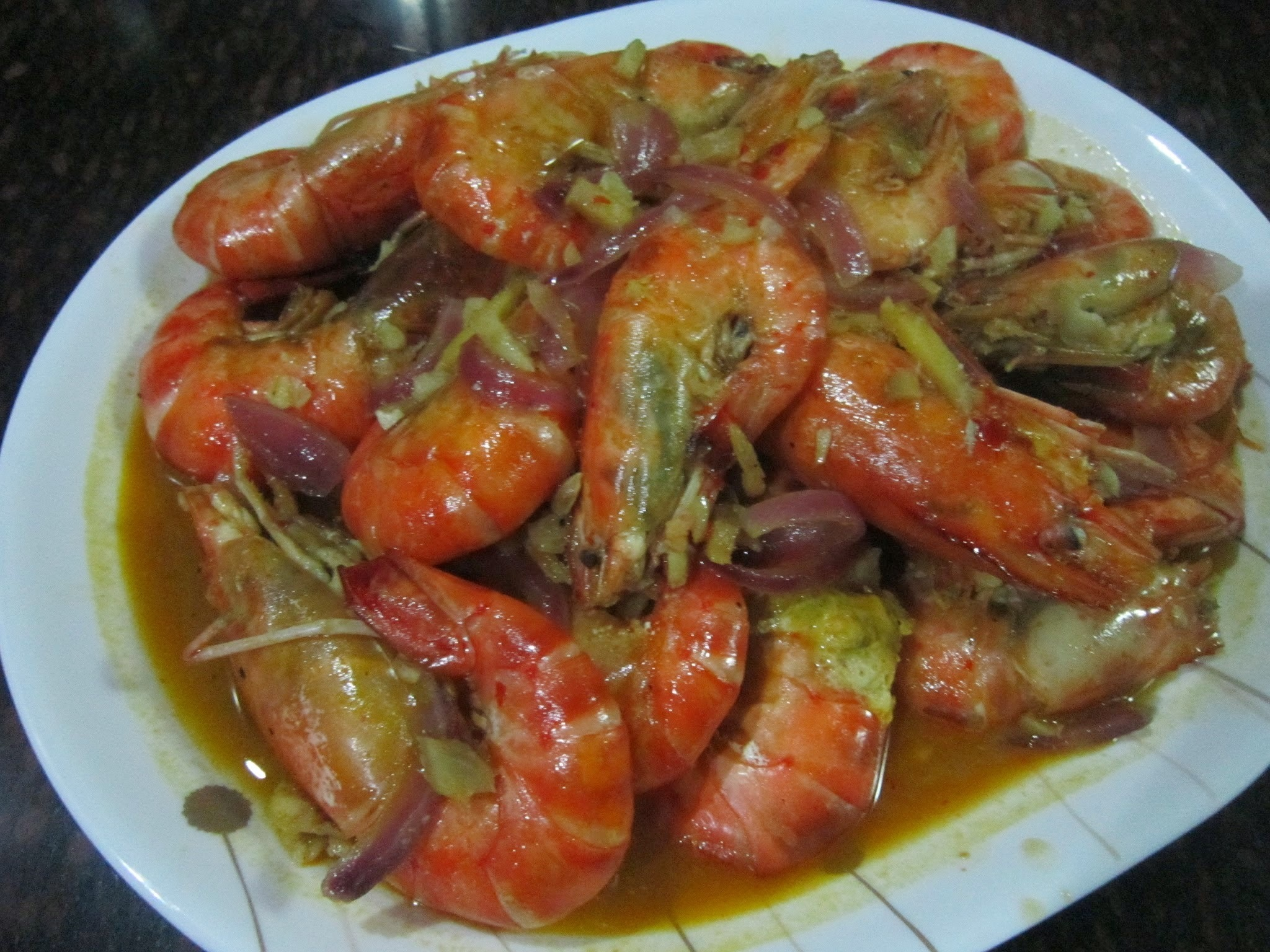 SHRIMP in CHILI-GARLIC-LEMON SAUCE